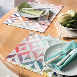 Mille Twist Pastel Placemats set/4 , 100% Cotton Coated