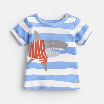 Joules Ben Jersey T-shirt - Blue Shark Stripe