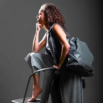 Holly & Tanager Large Bag-Grey- Retired Style -Final Sale