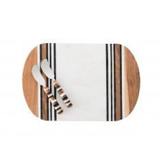 Stonewood Stripe Serving Board & Spreaders