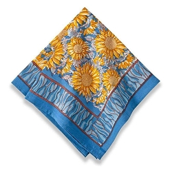 Sunflower Napkins Yellow & Blue, Set of 6 Backordered