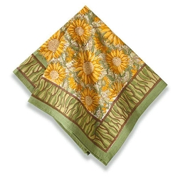 Sunflower Napkins Yellow & Green, Set of 6 Backordered
