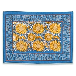 Sunflower Placemats Yellow & Blue, Set of 6
