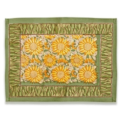 Sunflower Placemats Yellow & Green, Set of 6