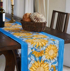 Sunflower Runner Yellow & Blue