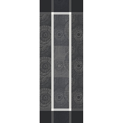 Sunshine Black Table Runner  22 X 61, 100% Cotton