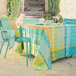 Mille Colibris Maldives Tablecloth,   100% Cotton or Coated Cotton