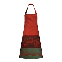 Christmas Forest Red Apron 34