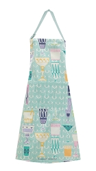 Mille Wax Cocktail Coated Apron Blue