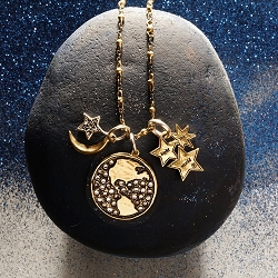 Reverent Earth Starlight Cluster Galaxy Necklace