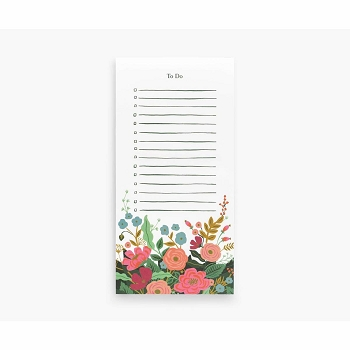 Rifle Paper Floral Vines To Do Market Pad