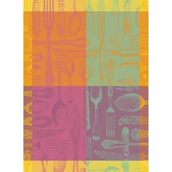 Couverts Et Couleurs Orange Kitchen Towel 22
