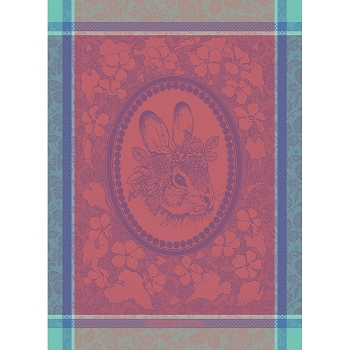 Madam Lapin Rose Kitchen Towel 22