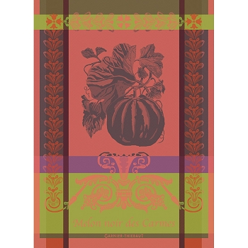 Melon Noir Rouge Orange Kitchen Towel 22