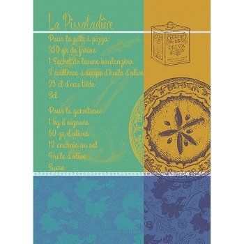 Pissaladiere Luberon Kitchen Towel  22