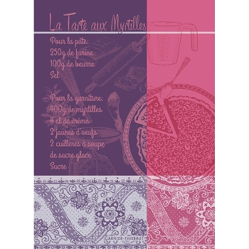 Tarte Aux Myrtilles Violet Kitchen Towel  22