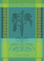 Chou Kale Blue Kitchen Towel 22
