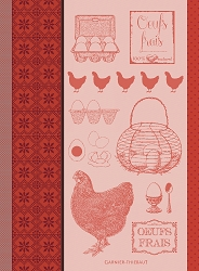 L' Oeuf Et La Poule Rouge Kitchen Towel 22