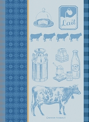 La Vache Et Le Lait Bleu Kitchen Towel 22