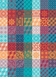 Mille Tiles Multicolore Kitchen Towel 22
