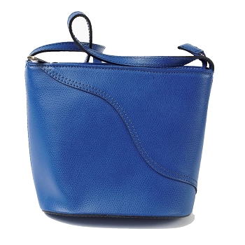 Treviso Leather Bag, Italy -Royal Blue