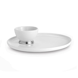 Tuscan Round Platter with Dipping Bowl