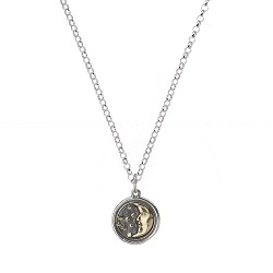 Wing and a Prayer Moon & Stars Necklace - SS/BR
