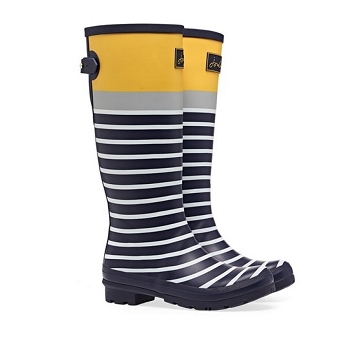 Joules Navy Stripe Tall Welly