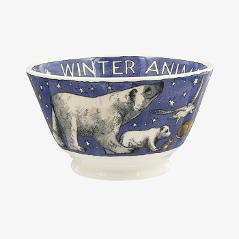 Winter Animals Sm Old Bowl