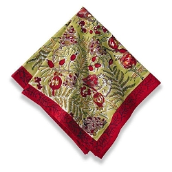 Winter Garden Wreath Napkins Red & Green, Set of 6 Backordered
