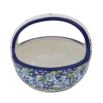 Polish Pottery True Blues Bread Basket