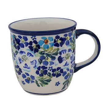 Polish Pottery True Blues 12 oz Mug