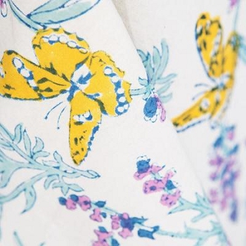 Papillon Blue French Tablecloth
