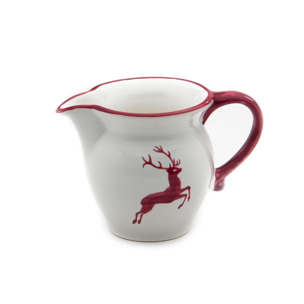 Bordeaux Wine Red Deer Classic Milk Jug 16.9  Ounce*