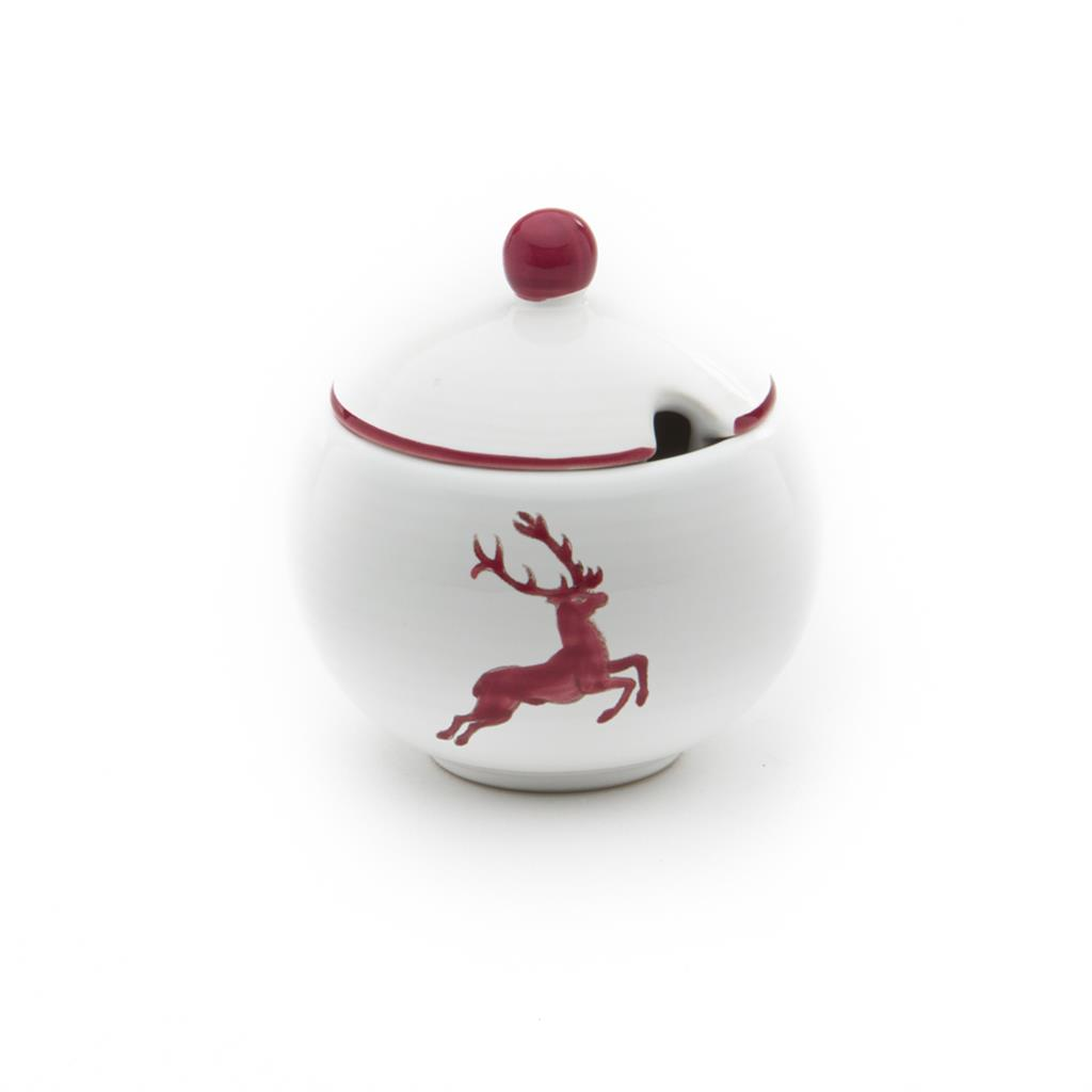 Bordeaux Wine Red Deer Sugar Bowl
