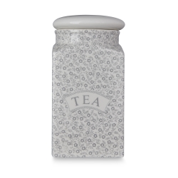 Dove Grey Felicity Tea Square Covered Storage Jar - 1 available