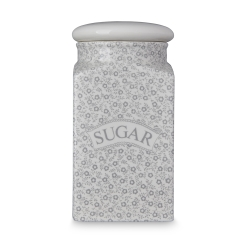Dove Grey Felicity Sugar Square Covered Storage Jar - 1 available