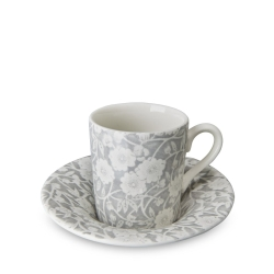 Dove Grey Calico Espresso Cup and Saucer - 4 available