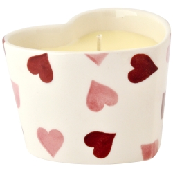 Pink Hearts Heart Filled Candle
