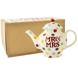 Polka Dot Mr and Mrs 2 Cup Teapot Boxed-3 available