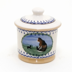Cat Lidded Sugar Pot
