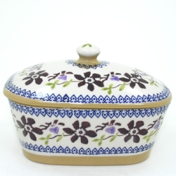 Clematis Covered Butterdish