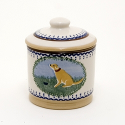 Dog Lidded Sugar Pot