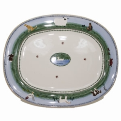Landscape Mixed Animal Oval Platter