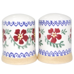 Old Rose Salt  and  Pepper Shakers