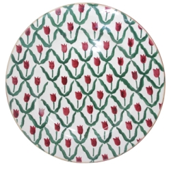 Red Tulip Dinner Plate - RETIRED