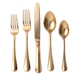Bistro Gold 5pc Flatware Setting