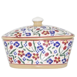 Wild Flower Meadow Covered Butterdish