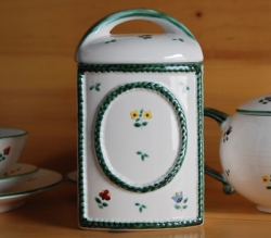 Alpine Flowers Classic Storage Jar, Retired