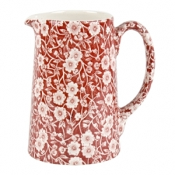 Red Calico 1 Pint Medium Tankard Jug